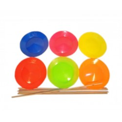 Plate flexible Fluo Play 23cm + stick
